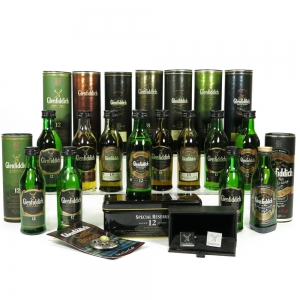 Glenfiddich Miniature Selection Including Brooch and Cufflinks 12 x 5cl