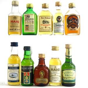 Miscellaneous Whisky Miniatures x 10