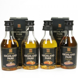 Highland Park Miniature Collection 4 x 5cl / Including 2 x 25 Year Old