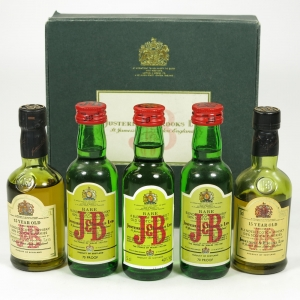 J&B Miniature Collection 5 x 5cl / Including 15 Year Old