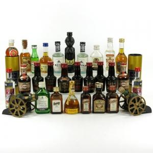 Miscellaneous Non-Whisky Miniatures 29 x 5cl Including Courviouseir Canons