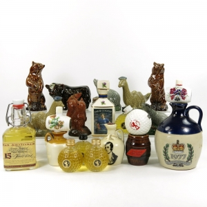 Miscellaneous Miniature Whisky Decanter Selection