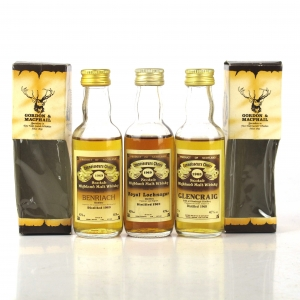 Highland & Speyside Gordon and MacPhail Miniatures 3 x 5cl 1980s