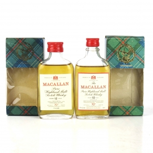 Macallan 10 & 12 Year Old Gordon and MacPhail Miniatures x 2 1970s