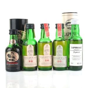 Islay Miniature Selection 5 x 5cl / Including Lagavulin 16 Year Old White Horse