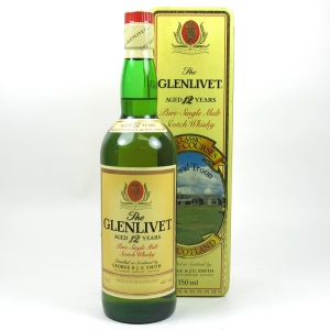 Glenlivet 12 Year Old Royal Troon Golf Course Tin Front