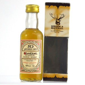 Glenlivet 1946 Gordon and MacPhail 50 Year Old Miniature 5cl