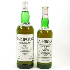 Laphroaig 10 Year Old 1990s 1 Litre & 70cl
