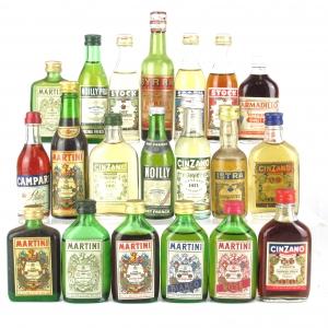 Miscellaneous Vermouth Selection 20 x Miniature