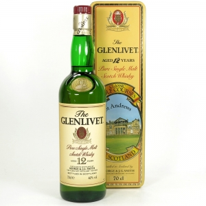 Glenlivet 12 Year Old St Andrews Golf Course Tin