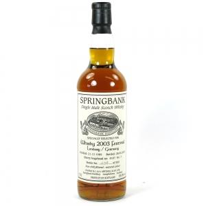 Springbank 1989 Limburg Whisky Festival