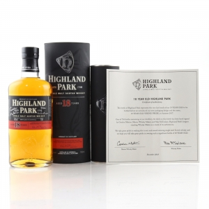 Highland Park 18 Year Old / Signed Last Batch with Certificate