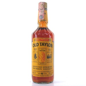 Old Taylor 6 Year Old Kentucky Straight Bourbon 1980s