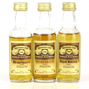Speyside Gordon and MacPhail Miniatures 3 x 5cl 1980s