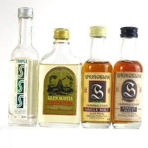 Campbeltown Miniature Selection 4 x 5cl / Including Springbank 21 Year Old