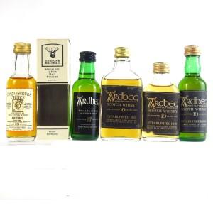 Ardbeg Miniature Selection 5 x 5cl / Including 1974 Vintage