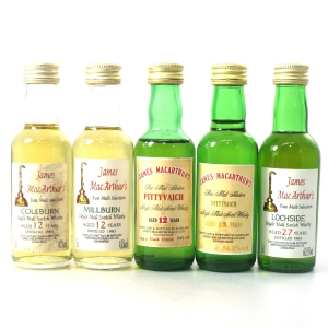 James MacArthur's Closed Distillery Miniatures 5 x 5cl / Including Lochside 1963 27 Year Old