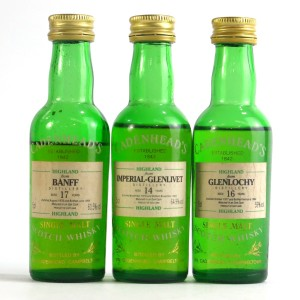 Closed Distillery Cadenhead's Miniatures 3 x 5cl