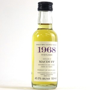 Macduff 1968 Duncan Taylor 40 Year Old Miniature