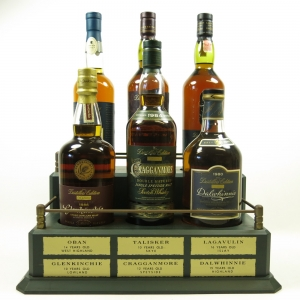 Classic Malt Distillers Edition 6 x 70cl and Plinth /Including 1979 Lagavulin and 1986 Talisker