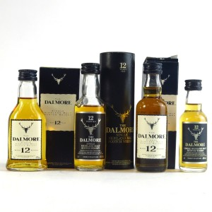 Dalmore 12 Year Old Miniatures 4 x 5cl