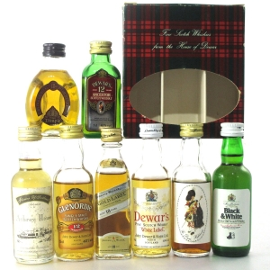 Blended Scotch Whisky Miniatures x 8 / Including Glenordie Single Malt