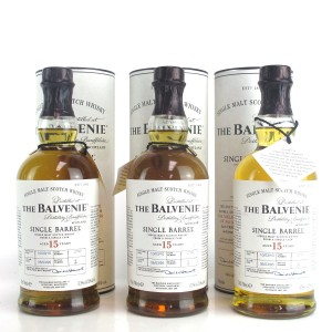 Balvenie 1995 Single Barrel 15 Year Old 3 x 70cl / Bottles #1, #2 and #3