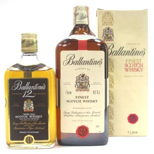 Ballantine's Finest Scotch Whisky 1 Litre & 12 Year Old 35cl