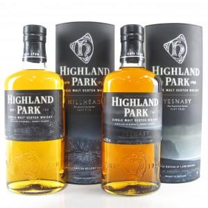 Highland Park Yesnaby & Hillhead 2 x 70cl