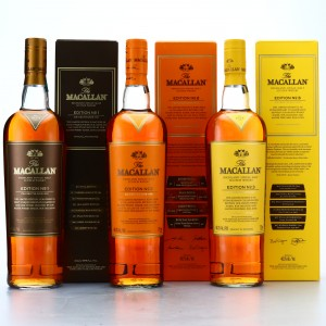 Macallan Edition No.1-3 Collection 3 x 75cl / US Import