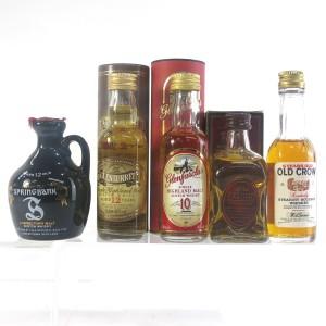 Miscellaneous Whisky Miniatures x 5