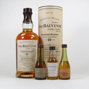 Balvenie 10 Year Old Founders Reserve and 3 Miniatures