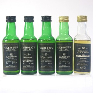 Cadenhead's Highland Miniature Selection 5 x 5cl / Including Clynelish 1965