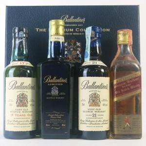 Ballantine's Premium Collection 3 x 20cl & Johnnie Walker Red Label 18.75cl