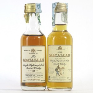 Macallan 7 Year Old & 10 Year Old Miniature 2 x 5cl