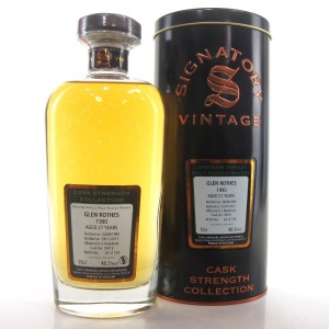 Glenrothes 1990 Signatory Vintage 27 Year Old Cask Strength