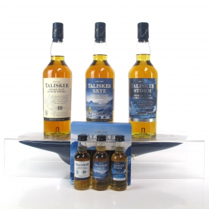 Talisker Collection 3 x 70cl / Including Plinth and Miniature Gift Pack