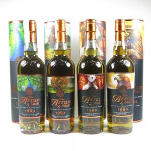 Arran Icon's of Arran Series - Peacock, Westie, Rowan Tree and Eagle front