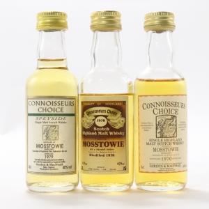 Mosstowie Gordon and MacPhail Miniatures 3 x 5cl