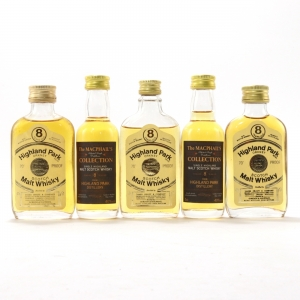 Highland Park 8 Year Old Gordon and MacPhail Miniatures x 5