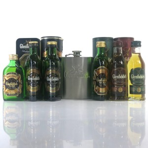 Glenfiddich Miniature Selection / Including Mini Hip Flask