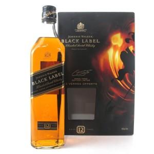 Johnnie Walker Black Label 12 Year Old Gift Pack / Including 2 Branded Glasses
