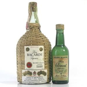 Bacardi Superior 25cl & Rhum Clement Miniature 5cl 1960s