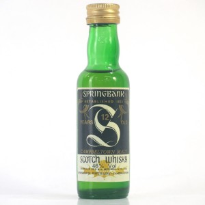 Springbank 12 Year Old Miniature 1980s