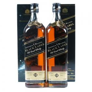 Johnnie Walker Black Label 12 Year Old 2 x 1 Litre front