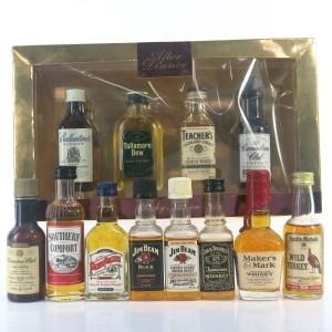 Scotch, Irish & North American Whisky Miniatures x 12