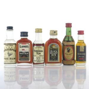 Rum Miniature Selection x 6 / includes Bardinet Negrita