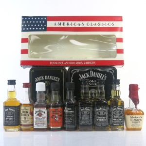 American Whiskey Miniatures 9 x 5cl