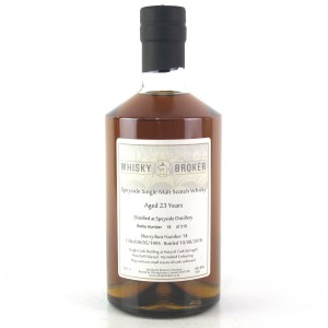 Speyside 1995 Whisky Broker 23 Year Old