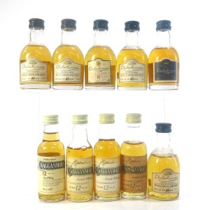 Cragganmore & Dalwhinnie Miniature Selection 10 x 5cl
